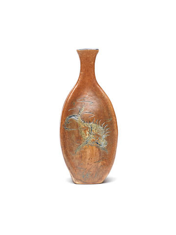 The Martin Brothers A Bottle Vase with Grotesque Fish, 1899