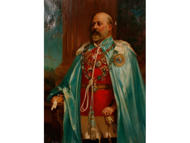 ** Downey (late 19th/early 20th Century) A Portrait of King Edward VII