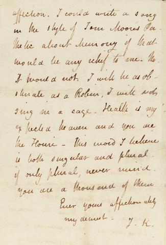 KEATS, JOHN (1795-1821, poet)