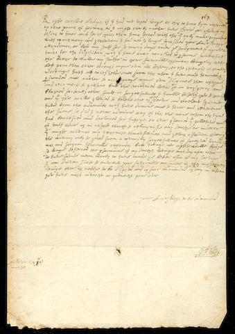 RALEGH, Sir WALTER (1554-1618, poet, writer, explorer and courtier)