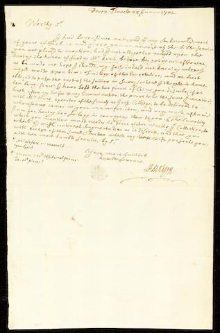 EVELYN, JOHN (1620-1706, diarist, antiquarian, numismatist and garden historian, F.R.S.)