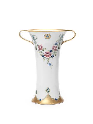 William Moorcroft 'Eighteenth Century' a Large Twin-handled Vase, circa 1905