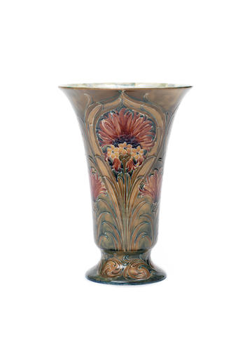 William Moorcroft for Townsend & Co. 'Revived Cornflower' a Large Vase, circa 1912