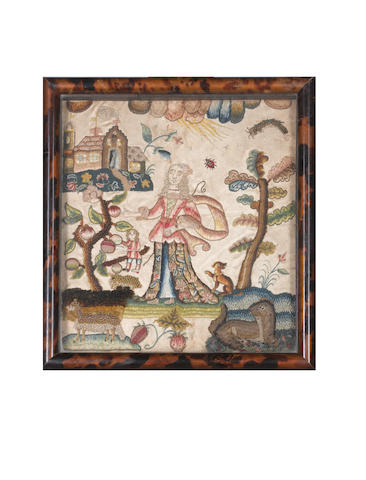 A needlework picture English, late 17th Century