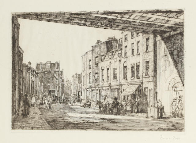 Francis Dodd (British, 1874-1949) Belvedere Road Etching, second state, on wove, signed and titled in pencil, 175 x 253mm (6 7/8 x 10in)(PL) unframed