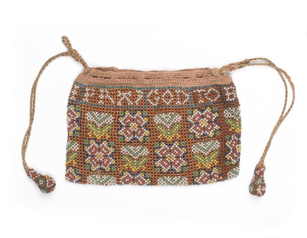 A beadwork bag English, 1638