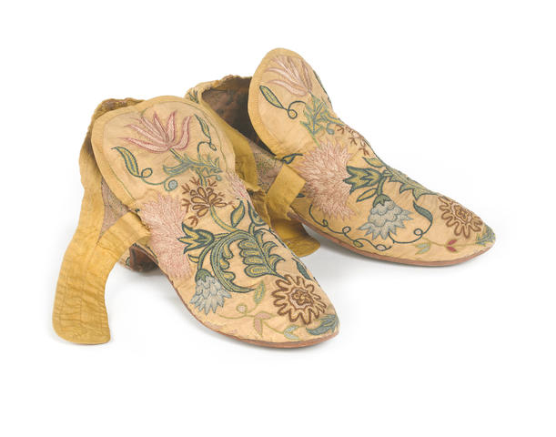 A pair of lady's shoes English, circa 1740
