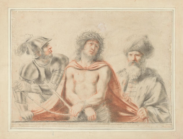 Attributed to Bartolozzi, after Guercino, the Showing of Christ u/f