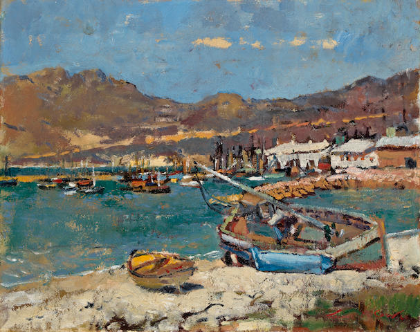 Terence John McCaw (South African, 1913-1978) Hout Bay, c. 1960