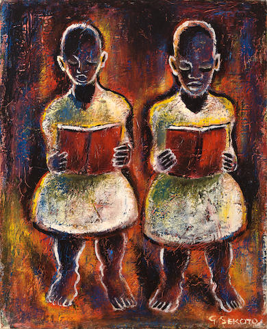Gerard Sekoto (South African, 1913-1993) Choir Singers