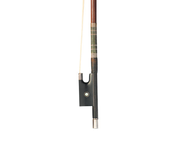 A French Silver Mounted Violin Bow by E. Sartory, Paris, (1)