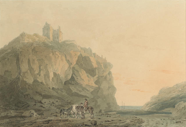Attributed to Thomas Girtin (British, 1775-1802) Dunotter Castle, Kincardineshire