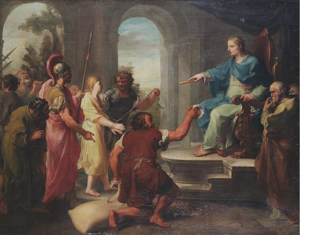 Follower of Jacopo Amigoni The finding of Joseph's cup