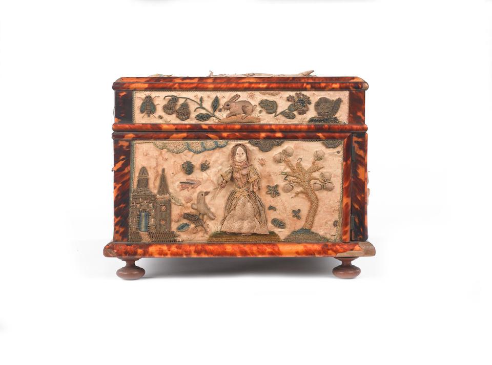 A needlework casket English, 1677