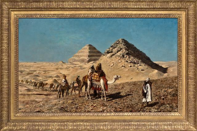 Edwin Lord Weeks (American, 1849-1903) Egyptian Caravan