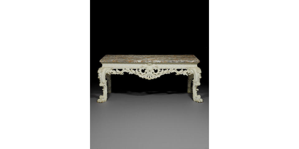 Late George II white painted sideboard table