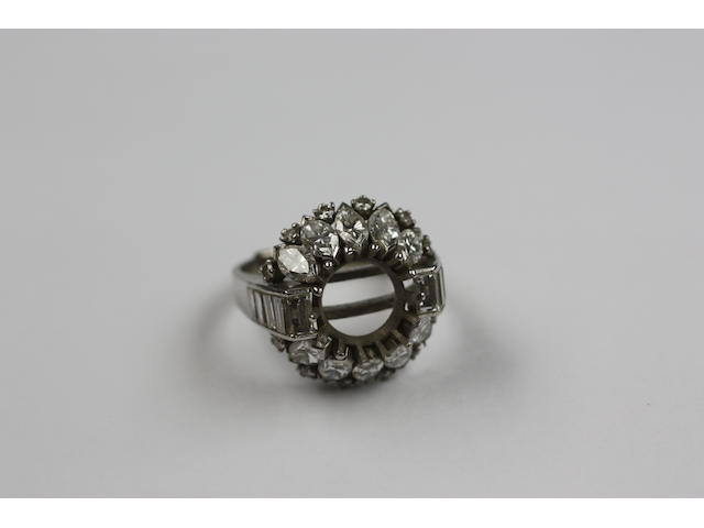 A diamond set ring mount