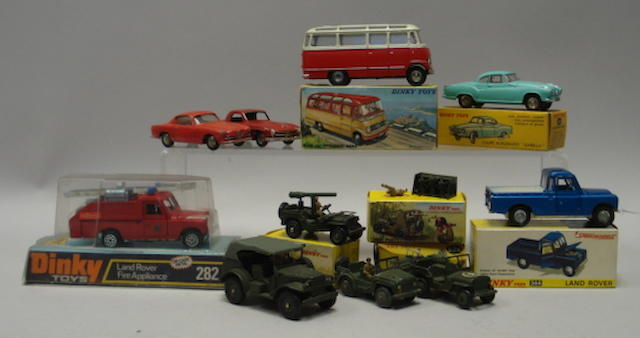 French Dinky 541 Mercedes Benz small bus, cars and military 11