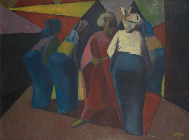 Jimoh Akolo (Nigerian, born 1934) Four female figures
