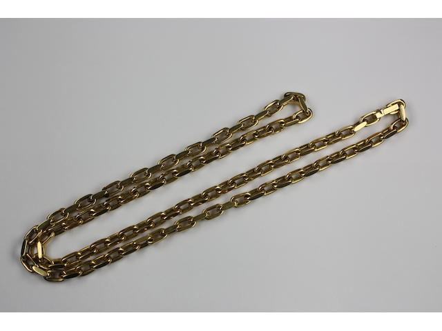 An 18ct gold chain necklace