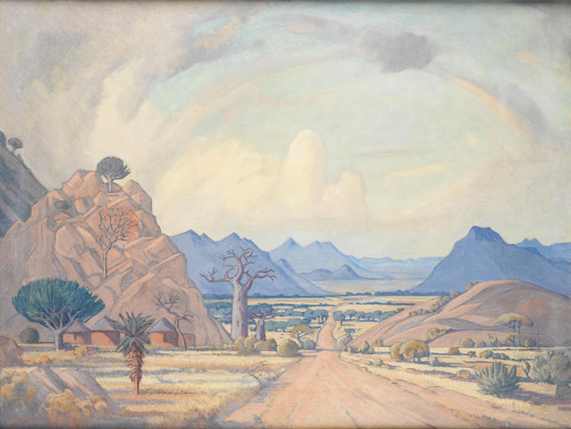 Jacob Hendrik Pierneef (South African, 1886-1957) Veld scene