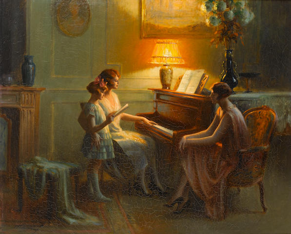 Delphin Enjolras (French, 1857-1945) By the piano