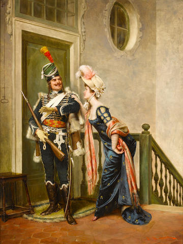 Frédéric Soulacroix (French, 1858-1933) The gallant officer