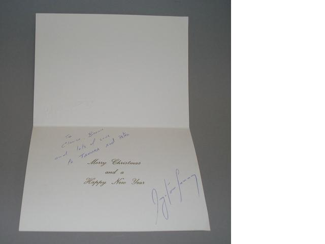 An Ayrton Senna Christmas card,