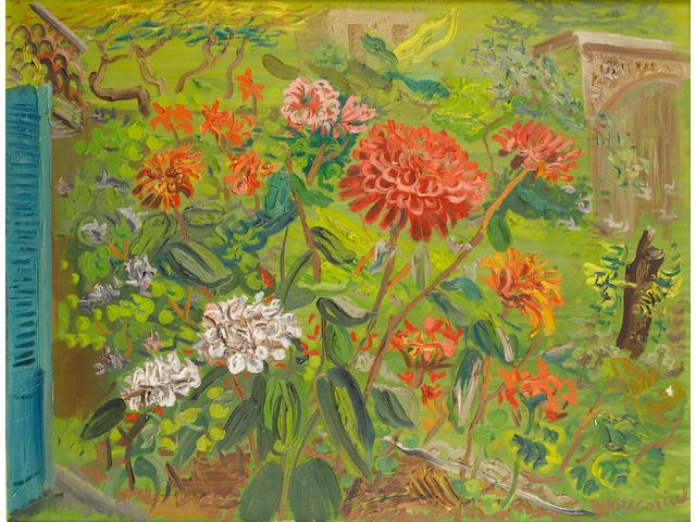 Boris Dmitrievich Grigoriev (Russian, 1886-1939) My garden