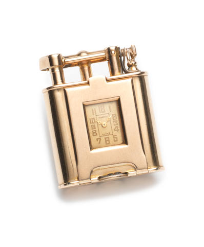 Gold Dunhill lighter watch