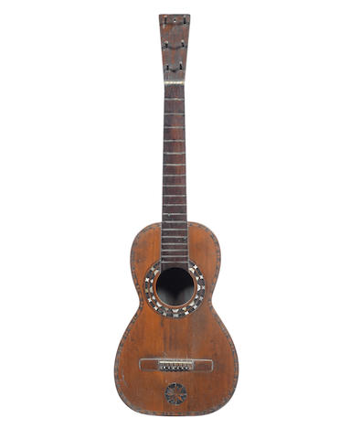 A Spanish Six String Guitar 1780-1800