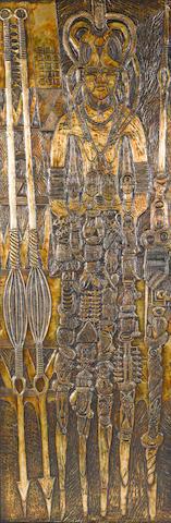 Bruce Onobrakpeya (Nigerian, born 1932) 'Jemoto Mri Ruoku'
