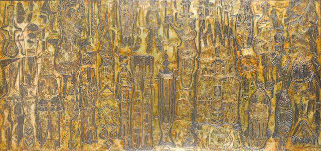 Bruce Onobrakpeya (Nigerian, born 1932) 'Onobrak vignettes'