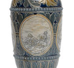 Hannah Barlow and Eliza Simmance for Doulton Lambeth A Vase with Boar Hunting Scenes, 1875