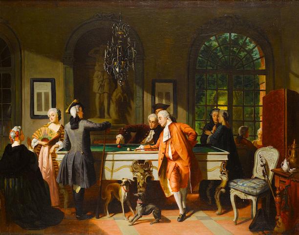 Jean Carolus (Belgian, 1814-1897) The billiard game