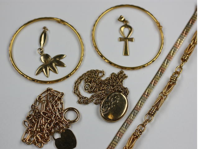 A collection of precious metal jewellery,
