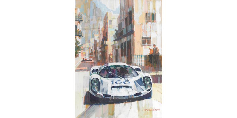 Dexter Brown (British, 1942-), 'Porsche 910/6 at Targa Florio 1967',