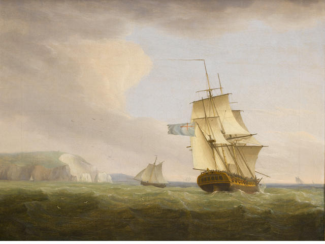 Thomas Whitcombe (British, 1760-1824) Off the Needles