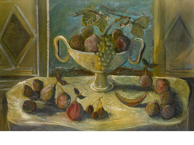 Christo Coetzee (South African, 1929-2001) Still life with fruit