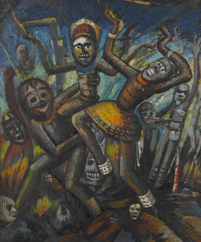 Ben (Benedict Chukwukadibia) Enwonwu, M.B.E (Nigerian, 1917-1994) Ritual dance