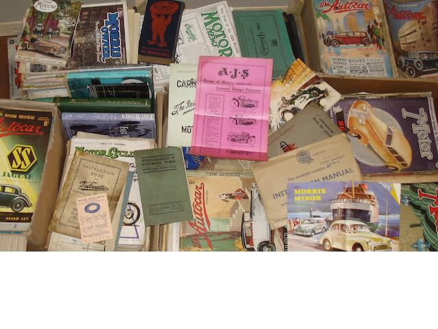 Assorted books and ephemera,
