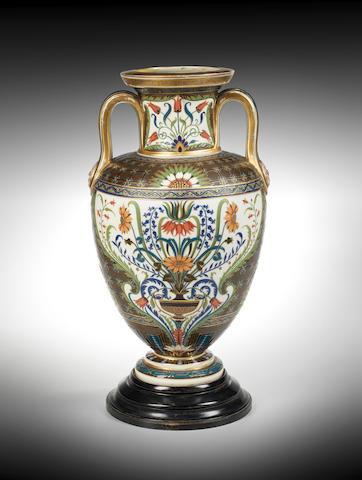 A magnificent Minton pâte-sur-pâte vase by Charles Toft, circa 1880