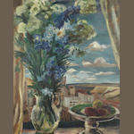 Maud Frances Eyston Sumner (South African, 1902-1985) Still life on a window ledge