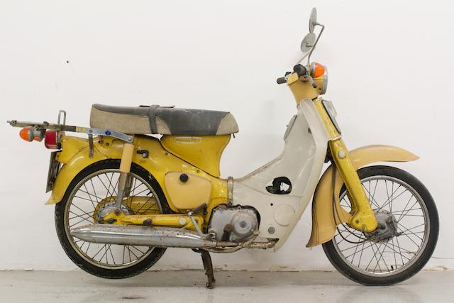 Honda C70 Step-thru Moped,
