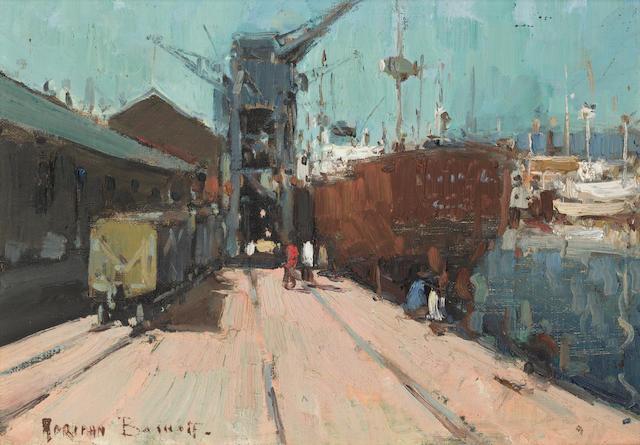 Adriaan Hendrik Boshoff (South African, 1935-2007) 'Dockside Durban'