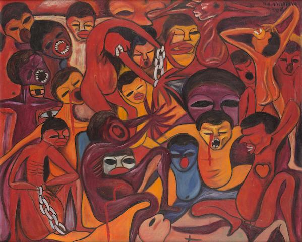 Malangatana Valente Ngwenya (Mozambican, 1936-2011) Inferno