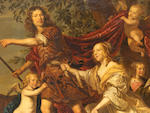 Jacob Frans van der Merck, Potrait of a family as Venus & Adonis, O/C, signed and dated 1647 (  in the Bernt book)