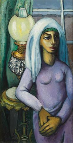 Johannes Petrus Meintjes (South African, 1923-1980) Pioneer girl