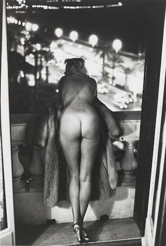 Helmut Newton (German, 1920-2004) Winnie at The Negresco, Nice, 1975 Paper 40 x 30.1cm (15 3/4 x 11 7/8in), image 33.7 x 23.1cm (13 1/4 x 9 1/8in).