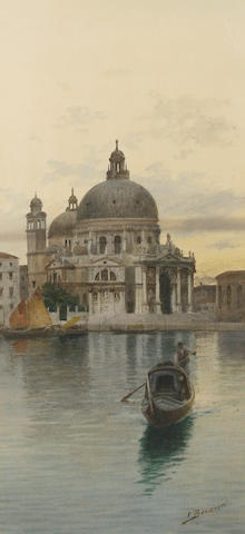 Eugenio Benvenuti (Italian, 1881-1959) Santa Maria della Salute; A Venetian backwater, a pair (2)